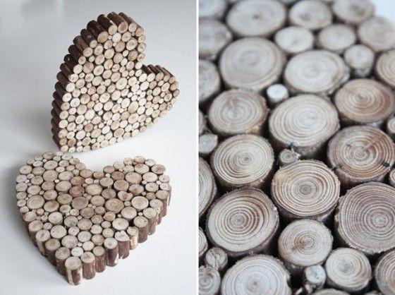 Sonntagshäppchen: Herzig aus Holzscheiben | Fräulein K. Sagt Ja