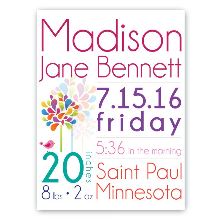 17 Best ideas about Birth Announcement Canvas – Madison Birth Announcements