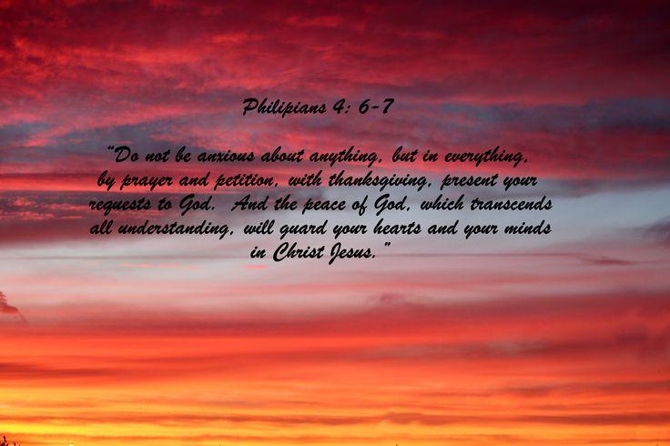 Philipians 4: 6-7.  My favorite Bible verse