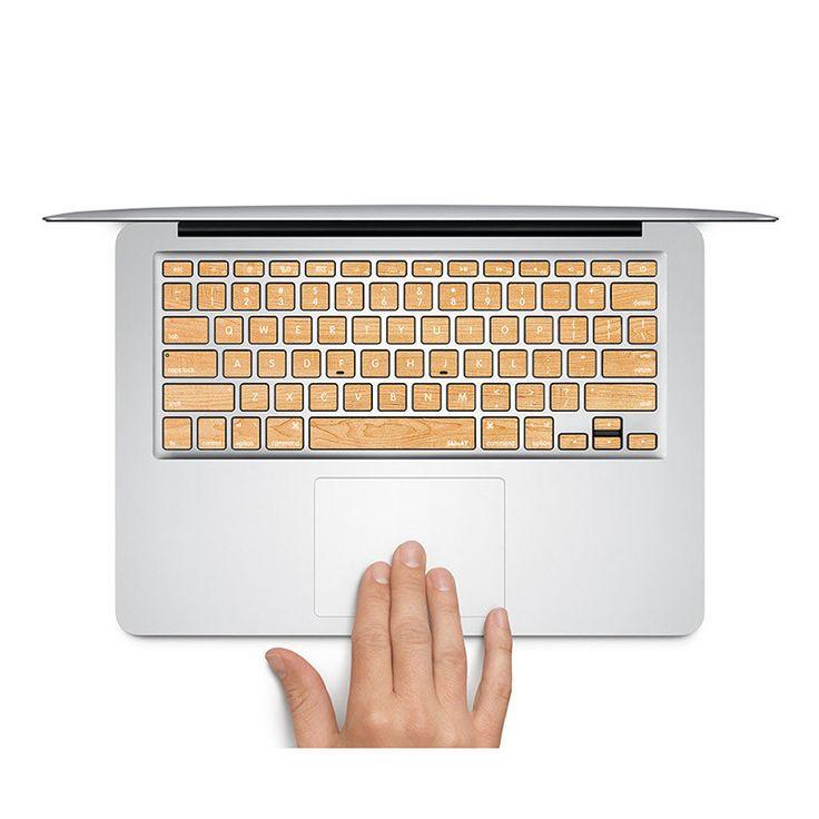 Sticker pour clavier : bois n°3