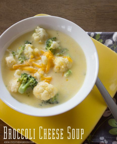The BEST Broccoli Cheese Soup!  Super fast to put together too!  From www.overthebigmoon.com!