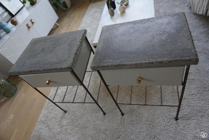 Originellt vackra nattduksbord i betong