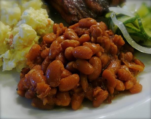 Maple Baked Beans. Photo by PaulaG