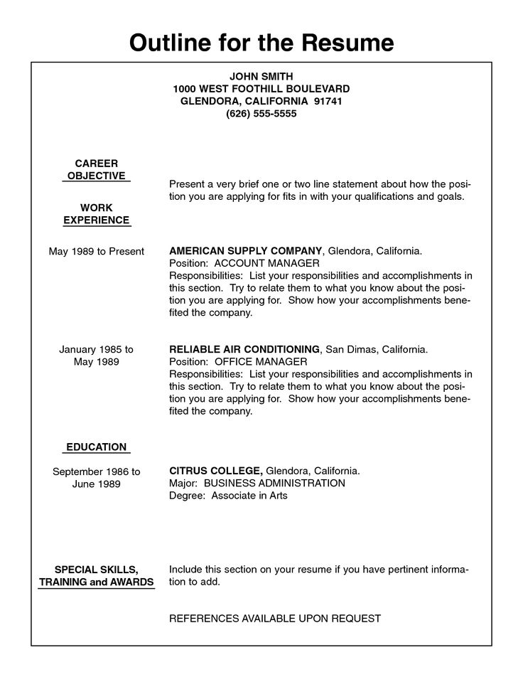 2 30 50 example kid resume career kids my first resume for First resume builder