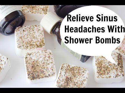 Sinus Headache Relief Shower Bombs (DIY Saturday) Relieve Sinus Headaches Naturally - YouTube
