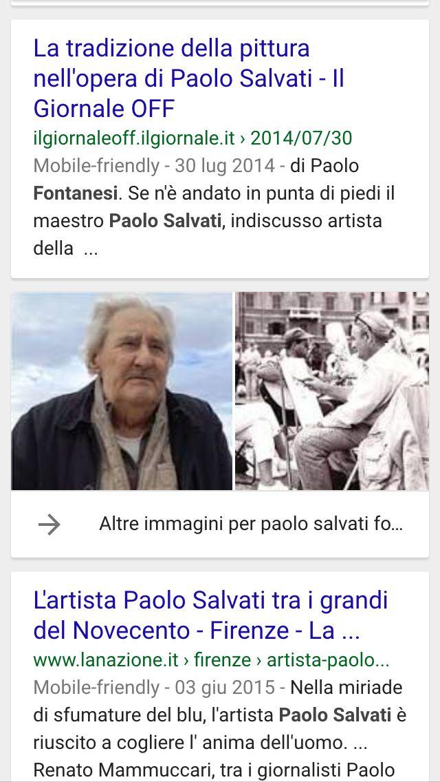 La tradizione della pittura nell'opera di Paolo Salvati.
