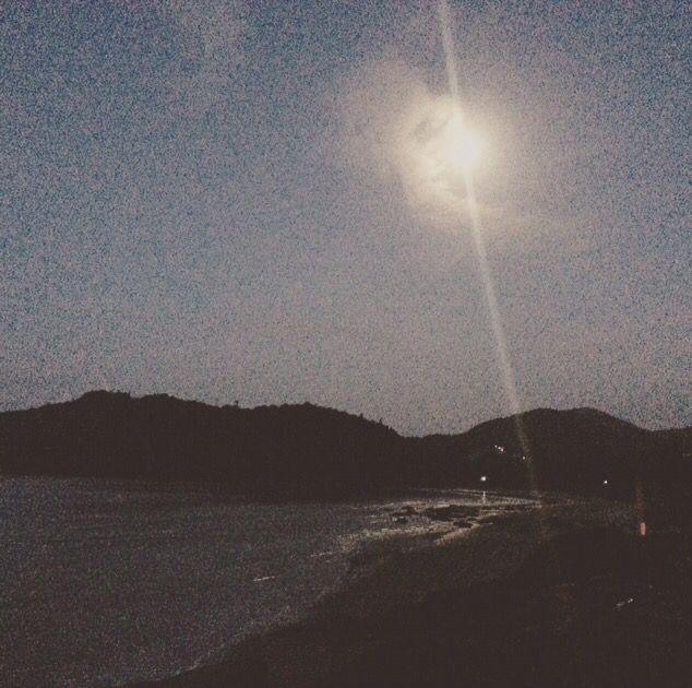 Full moon setting in Gokarna India #travel #fullmoon