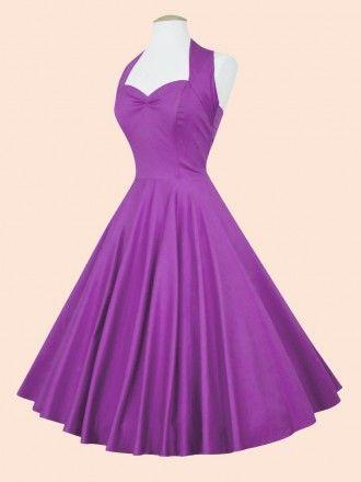 1950s Halterneck Heather Sateen Dress from Vivien of Holloway