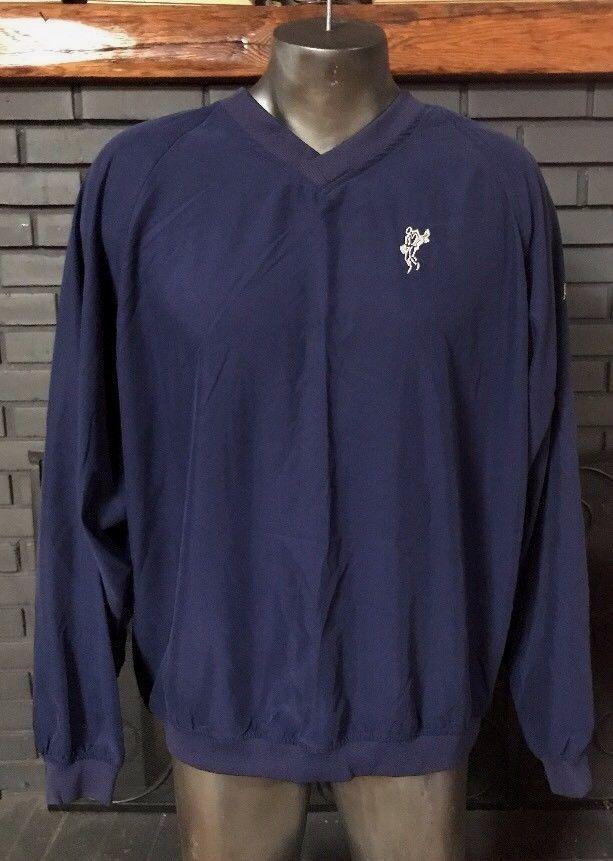 Ashworth Golf Pullover Windbreaker Jacket Navy Blue Men's Size XL #ASHWORTH #Windbreaker