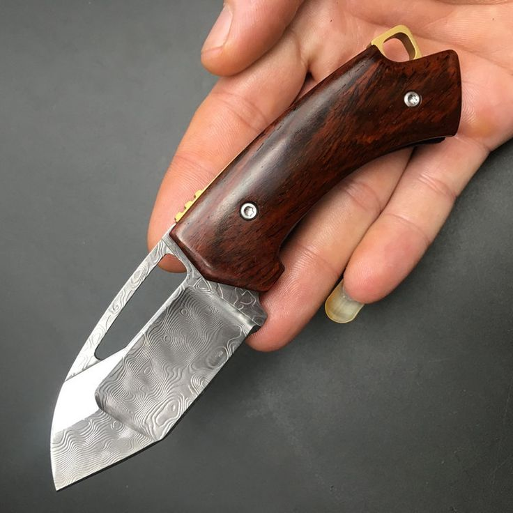 NEW Damascus Cocobolo Wide Pocket Knife Tactical Folding Knife Camping Survival Hunting Knife Hollow Blade width 3 cm 1976#