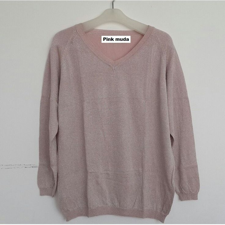 #Sweater Gliter Import Lengan Panjang (B082) ~ 125ribu. Warna : Pink muda. Bahannya bagus & halus #Bahan rajut. Ukuran : One Size/All size. Fit sampe ukuran XL (LD = 104cm, Pjg baju 60cm)