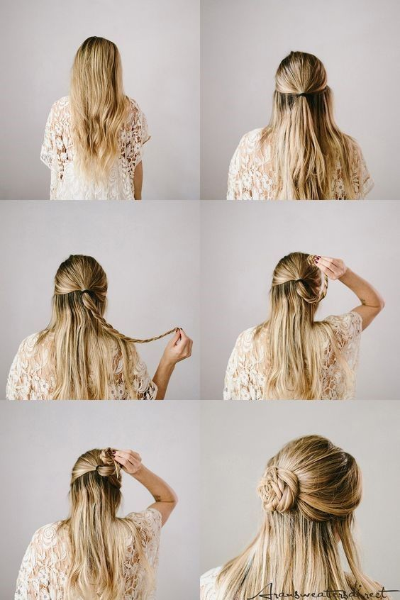 Easy Wedding Hairstyles To Try Yourself At Home - in 2020 | Easy hairstyles, Hair styles, Loose ...