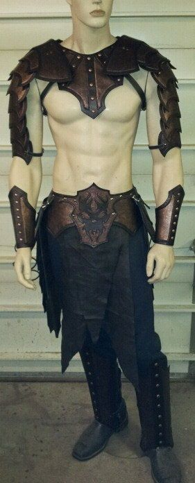 Fantasy Gladiator Leather Armor Set larp by SharpMountainLeather, $749.99 can I buy a man to go with suit