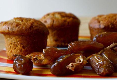 Recette: muffins aux dattes.