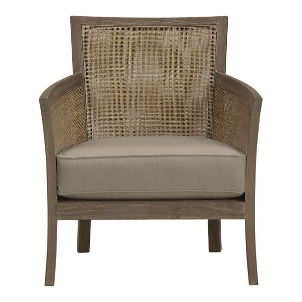 Blake Grey Wash Lounge Chair With Cushion In Chairs Crate And Barrel 699 Crate And Barrel