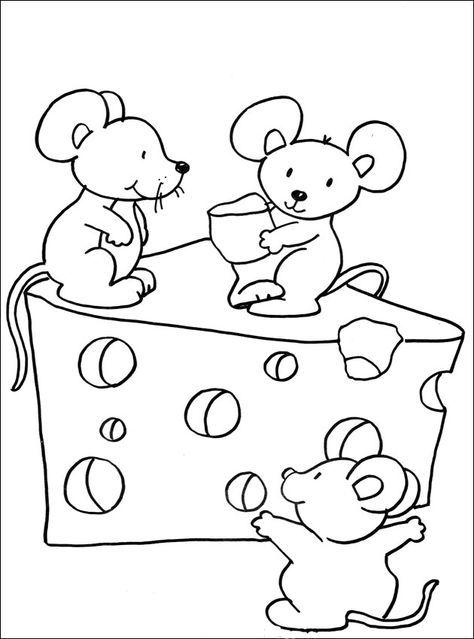 Dibujos Para Colorear De Ratones Infantiles