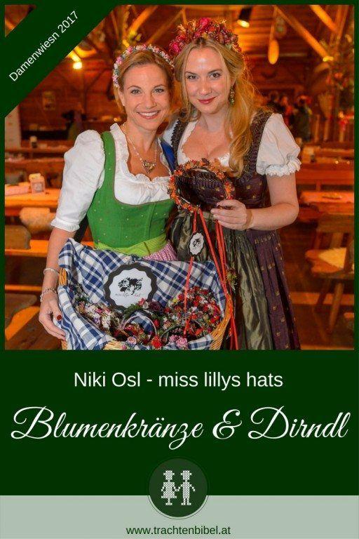 Blumenkränze & Dirndl - eine untrennbare Kombination für Niki Osl von miss lillys hats Im Interview erzählt uns die Designerin, was an der Damenwiesn für sie so wichtig ist und warum sie voriges Jahr die Letzte war ;-)