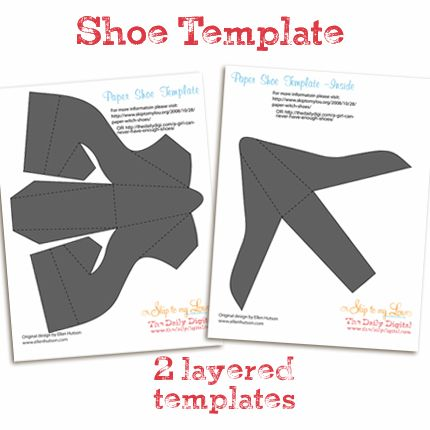 Cinderella Paper Shoe Template Paper shoe template. cute shoes