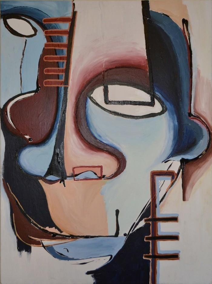 Large face study 1 amme donovan bluethumb art