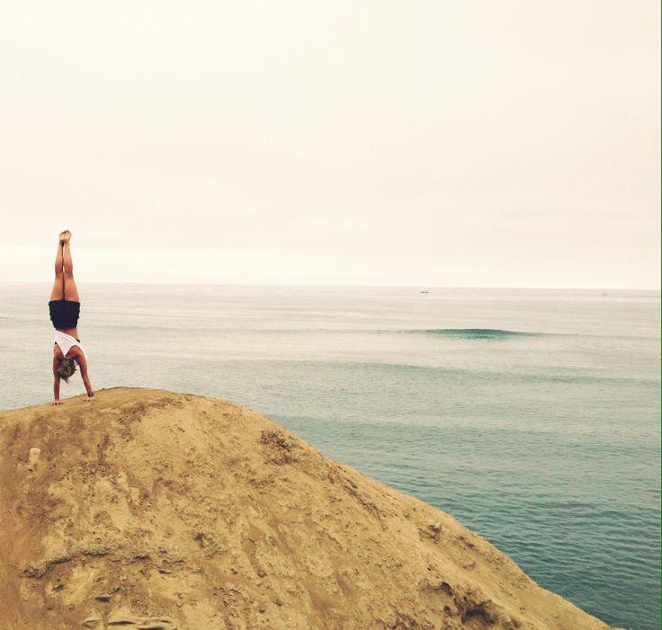 Handstands around the world. San Diego, California