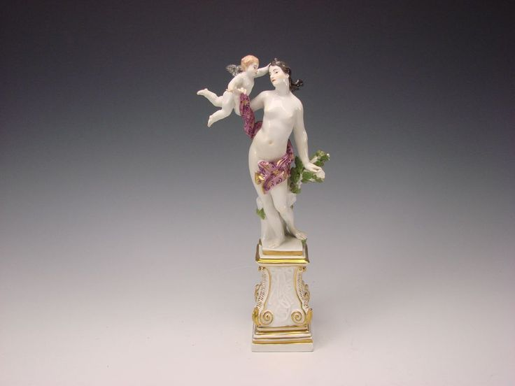 c1741 Meissen Porcelain Venus Nude Cherub Group Eberlein/Kaendler from hideandgokeep on Ruby Lane