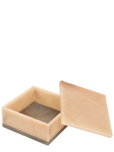 Large Hidalgo Alabaster Box Beige In 2020 Alabaster Box Beige Tray