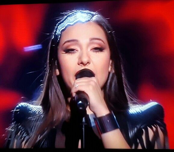 "ZAA Sanja Vučić (Serbia) singing ""Goodbye (Shelter)"" in semi-"