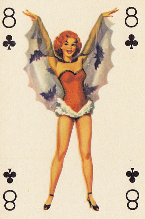 Autumn & Halloween — vintagegal: 1950s playing card