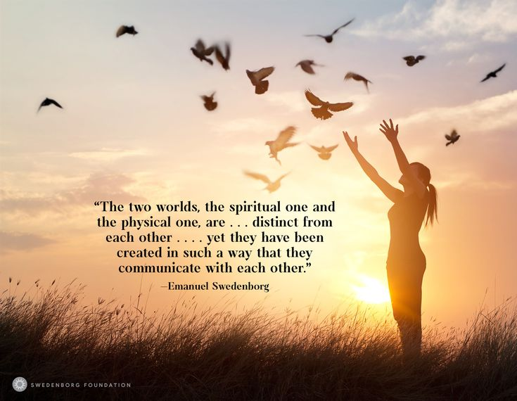 """""""The two worlds, the spiritual one and the physical one, are . . . distinct from each other . . . . [yet] they have been created in such a way that they communicate with each other."""" —Emanuel Swedenborg, Divine Love and Wisdom §83  To learn more about this idea, check out our Swedenborg and Life episode, """"Do Ghosts Exist?"""" here: https://www.youtube.com/watch?v=M85ttx9Hzm0"""
