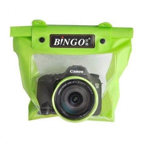 Bingo Waterproof Bag for Camera SLR with Lens Design Diamater 8.5cm Lens Length 15cm - WP056 - WP057 - Green