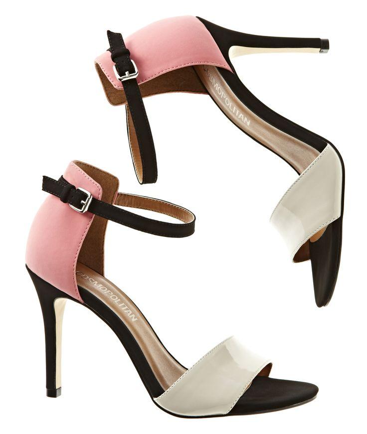 Cosmopolitan ankle strap heels