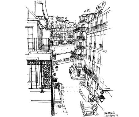 Love this drawing by Ken Woolley, an architect of Sydney, and a family ancestor.