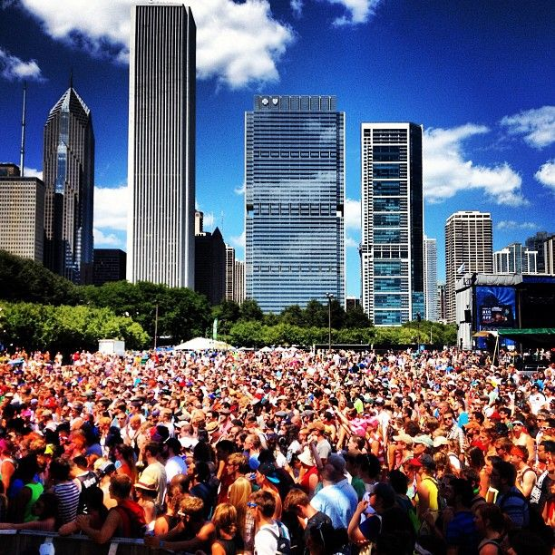 Lollapalooza in Chicago.