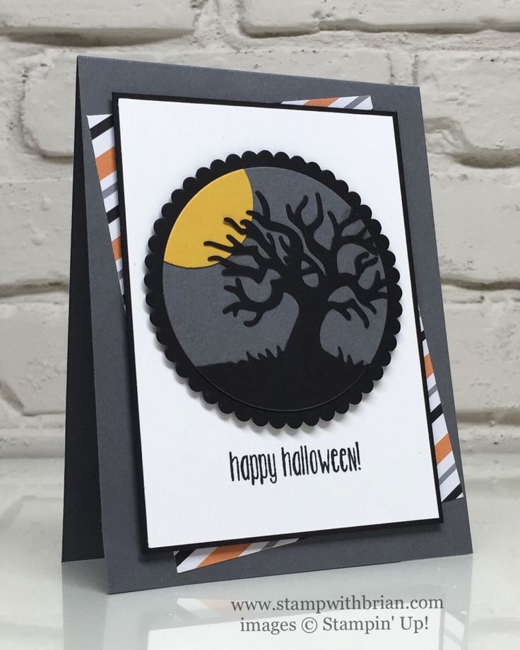 i dont make halloween cards but i like the layout halloween scenes edgelits spooky fun stampin up - Stampin Up Halloween Ideas