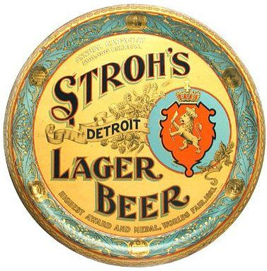 """Stroh's"" typeface.  ""Brown Dog"" was intended to be a craft beer type name."