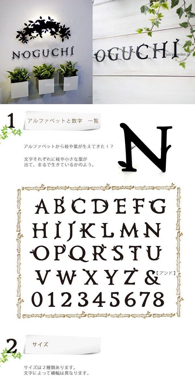 オリジナルフォントの表札 切り文字表札 ミエル アルファベット 数字 1文字 De Collage デコラージュ レタリングアルファベット フォント かわいいフォント アルファベット