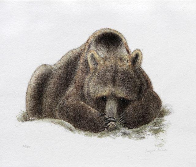 Art naturaliste Jacques Rime Titre: Ours et noix II