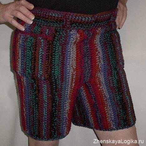 Мужские вязаные штаны