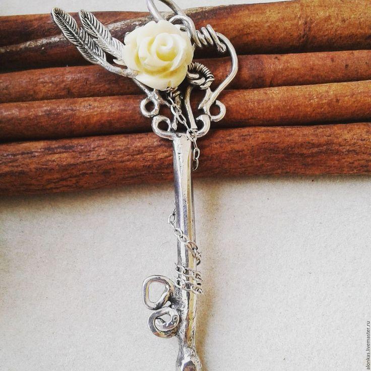"""Купить Кулон """"Ключ"""", Серебро 925 пробы - изделия ручной работы, ручная работа"""