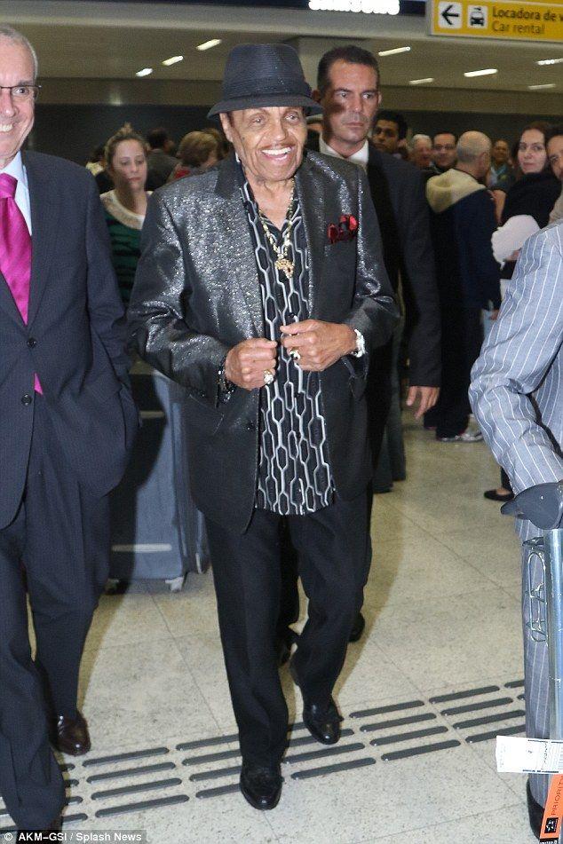 Still smiling: Janet Jackson's father, Joe Jackson suffered a stroke on his 87th birthday ...