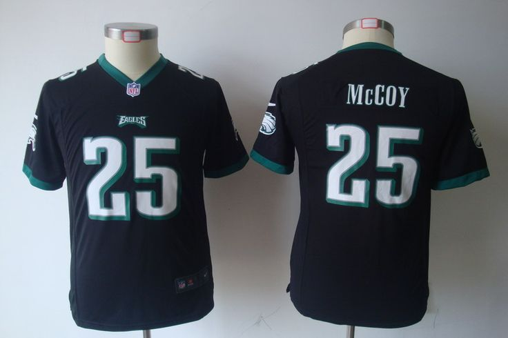 2012 Youth Nike Philadelphia Eagles 25 LeSean McCoy Black Jerseys