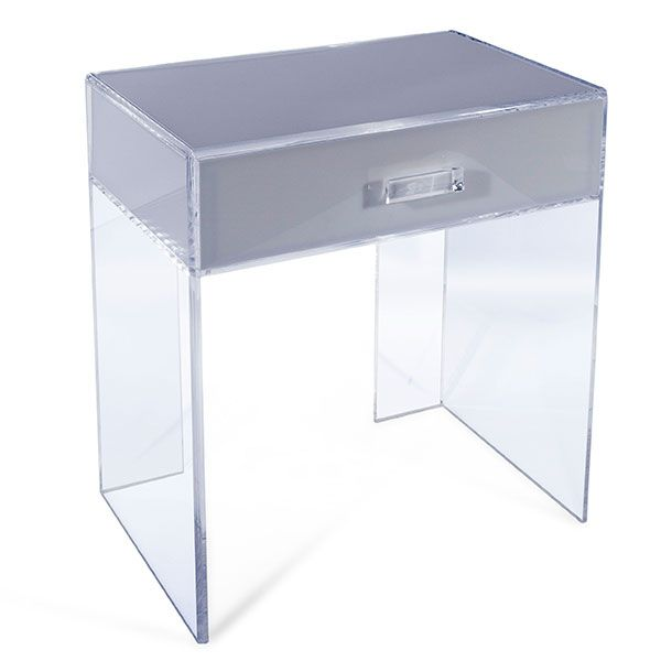acrylic furniture uk. Unique Acrylic Furniture For Your Home : An Side Table With A Drawer Uk R