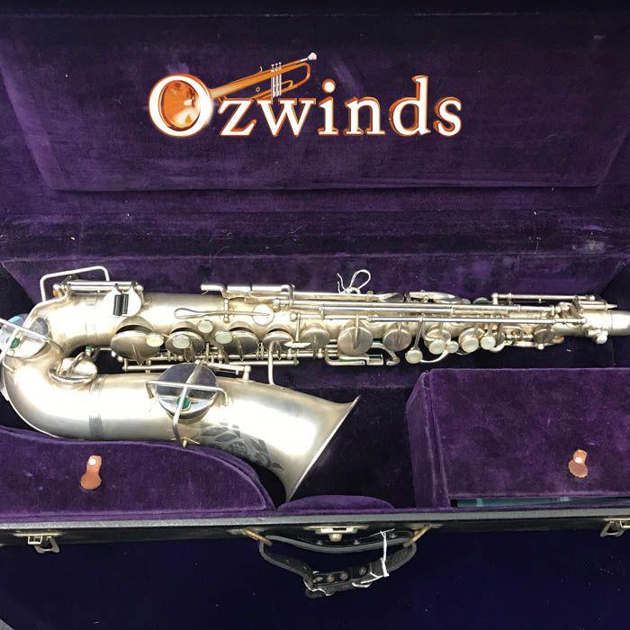 Buescher Vintage True Tone Alto saxophone, Silver Plate Finish
