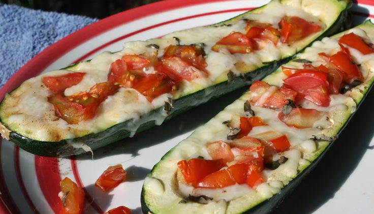 Best of Long Island and Central Florida: Caprese Stuffed Zucchini Boats The Yuck Stops Here #stoptheyuck