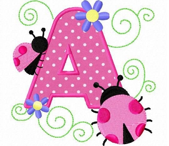 26 ladybug ladybugs letters applique machine by FunStitch on Etsy, $15.00