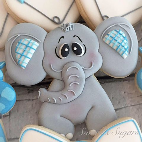 Baby Elephant Cookie