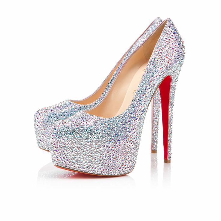 Christian Louboutin Daffodile Strass Platforms Aurora Boreale These will be  my wedding shoes  <div class=