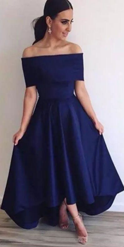 2f28e2f09739 hi low prom dresses under 100 Royal Blue dresses simple gowns | back ...
