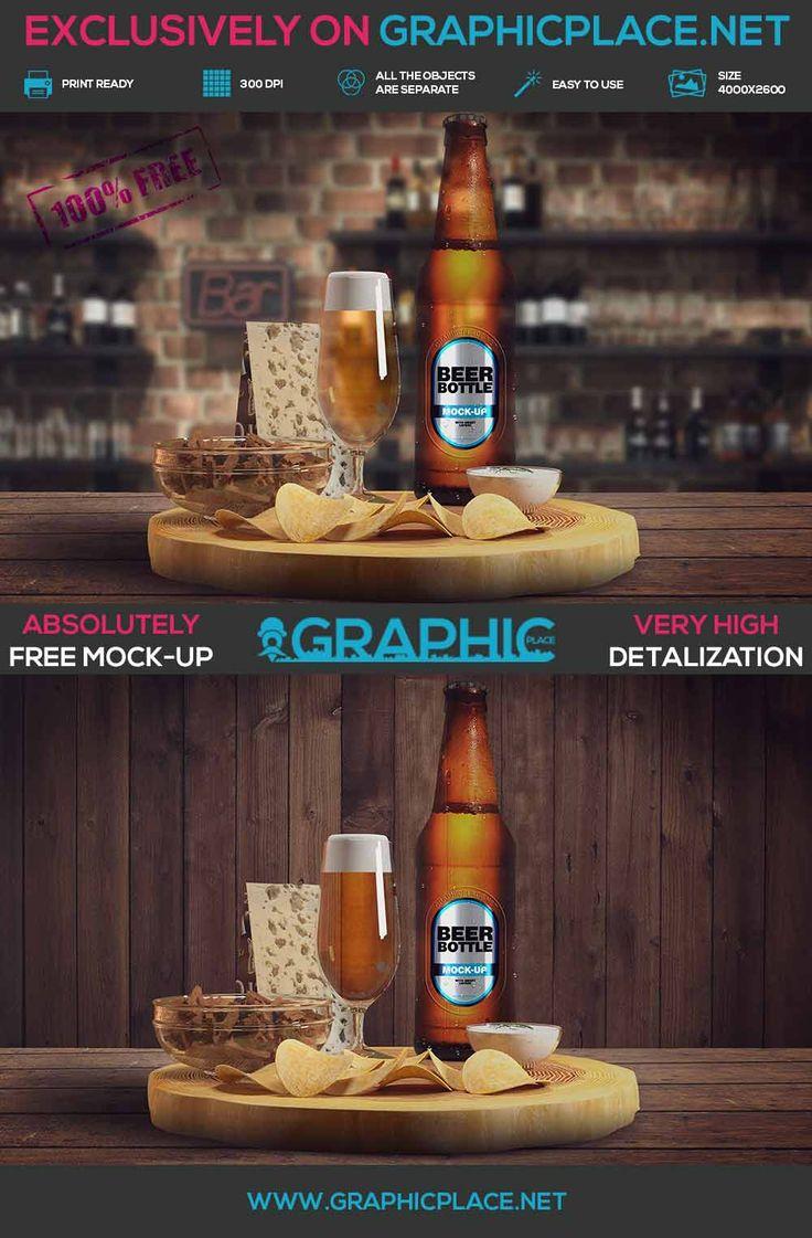 Beer Bottle - Free PSD Mockup V2. #beer #bottle #beerbottle #freeMockUp #freepsd #freepng #psd #mockup #bottlemockup  DOWNLOAD FREE MOCKUP HERE: http://www.graphicplace.net/beer-bottle-free-psd-mockup-v2/  MORE FREE GRAPHIC RESOURCES: http://www.graphicplace.net/