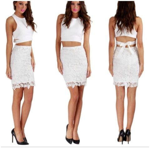 Matilda Lace Skirt, White